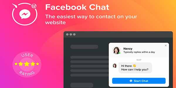Elfsight Facebook Chat - чат Facebook на WordPress
