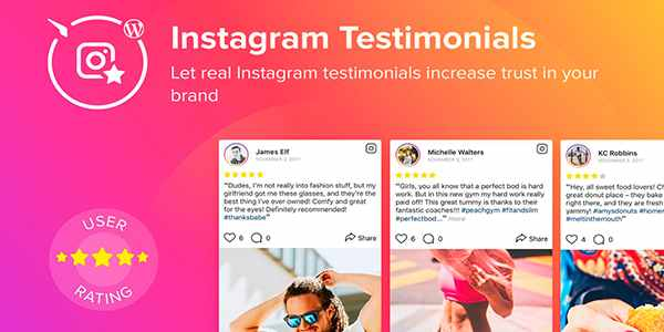 Elfsight Instagram - плагин отзывов Instagram для WordPress