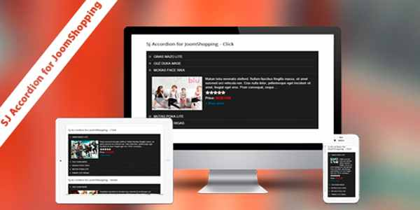 SJ Accordion for JoomShopping - модуль для Joomla