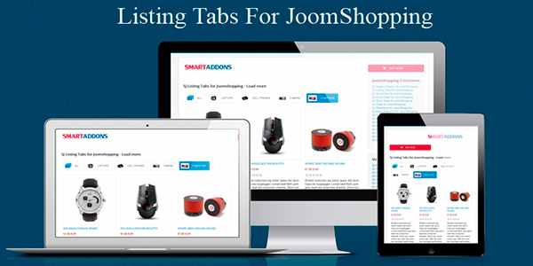 Sj Listing Tabs for JoomShopping - модуль для Joomla