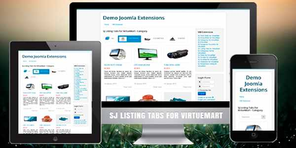 SJ Listing Tabs for VirtueMart - модуль для Joomla