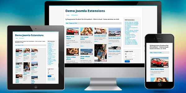 SJ Responsive Product for VirtueMart - модуль для Joomla