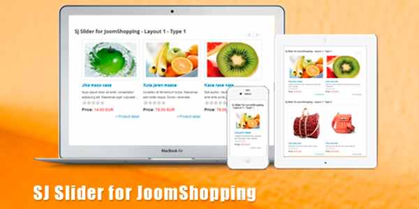 SJ Slider for JoomShopping - модуль для Joomla
