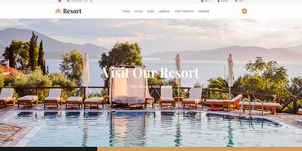 Sj Resort II - шаблон для отеля на Joomla