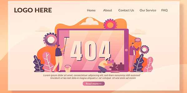 404 Page - Landing Page страница ошибки
