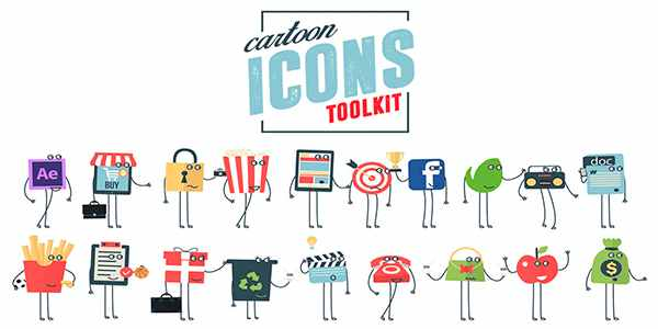 Cartoon Icons Toolkit