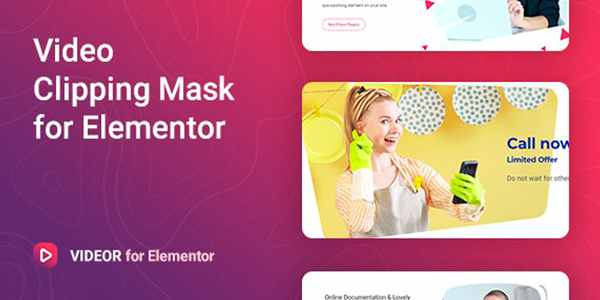 Videor – маска для видео Elementor на WordPress