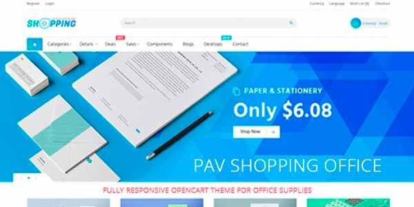 Pav Shopping - шаблон для магазина на Opencart