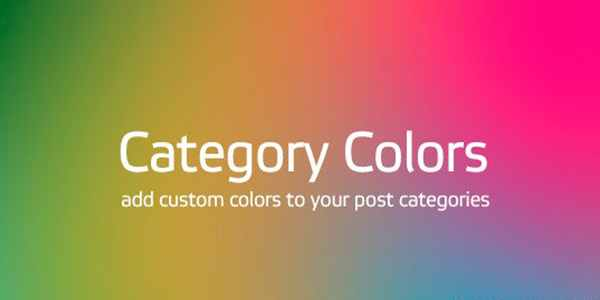Category Colors - цвет для категорий на Wordpress
