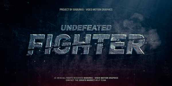 Undefeated Fighter - для трейлера на After Effects