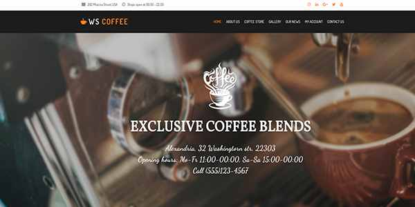 WS Coffee - шаблон для кофейни на WordPress