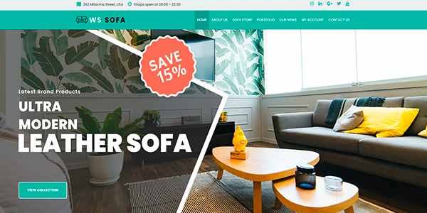 WS Sofa - шаблон для магазина интерьера на WordPress