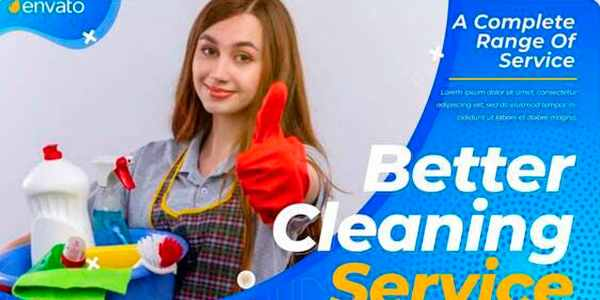 Cleaning Service Promo - услуги по уборке на After Effects
